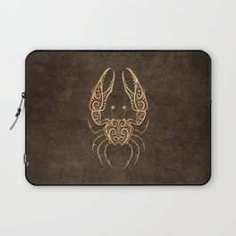 Vintage Rustic Cancer Zodiac Sign Laptop Sleeve