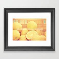 Do ghosts smell like oranges? Framed Art Print