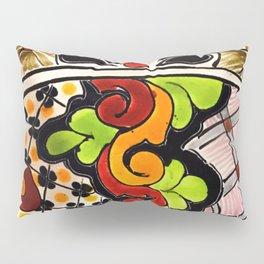Beautiful Red and Green Talavera Pillow Sham