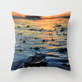 Clam Sunset Throw Pillow