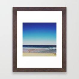 A Beach Coastline::A Fine Horizon Framed Art Print