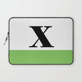 Monogram Letter X (color block) Laptop Sleeve