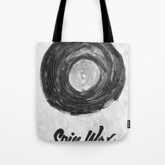 Spin Wax Tote Bag