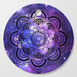 Mandala : Purple Blue Galaxy Cutting Board
