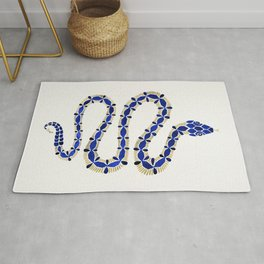 Navy & Gold Serpent Rug