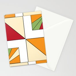 Geo Graphic Offset White Stationery Cards