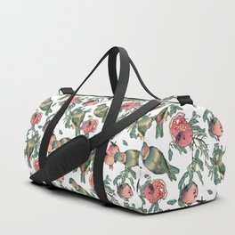 Pomegranate and Lovebirds Duffle Bag