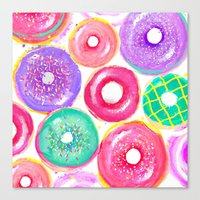 donuts Canvas Prints featuring Donuts by Sara Berrenson