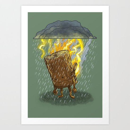 Bad Day Log II Art Print