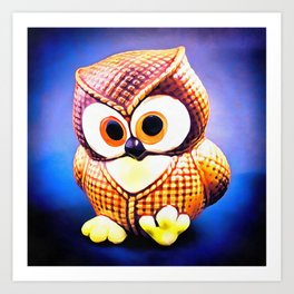 Ceramic Owl Art Print