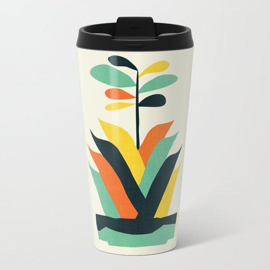 Exotic geometric plant Metal Travel Mug