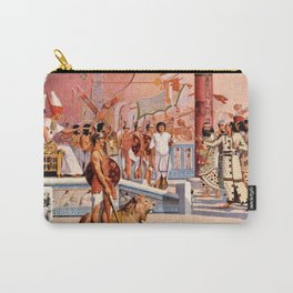 "Classical Masterpiece ""Egyptian Ramesses II Throne Room"" by Herbert Herget Carry-All Pouch"