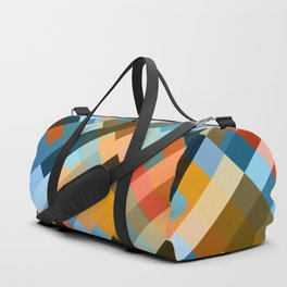 multicolored striped pattern Duffle Bag