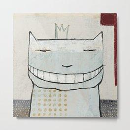 Smiley Cat Metal Print