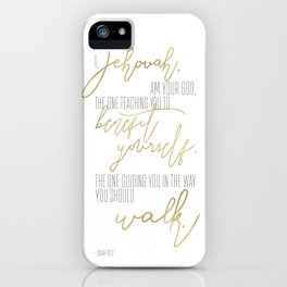 Isaiah 48:17 - Goldie iPhone Case