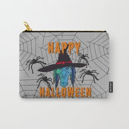 turquoise Witch Happy Halloween Carry-All Pouch