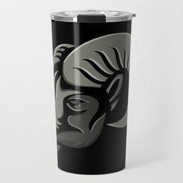 Bighorn Sheep Metallic Icon Travel Mug