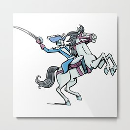 horse officer rides on a horse Metal Print