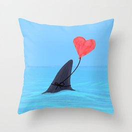 Original Shark Love Design Throw Pillow