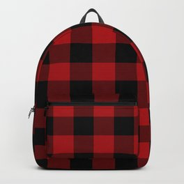 Red & Black Buffalo Plaid Backpack