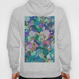 Colorful Wild Flowers Collage Hoody