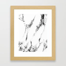 white marble no. 1 Framed Art Print