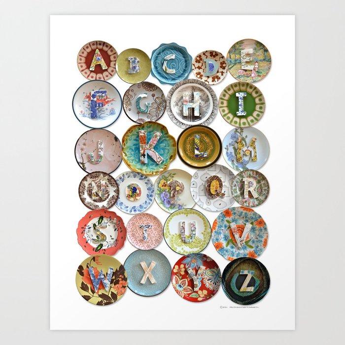 Love Letters to Dinnerware Art Print