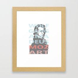Wolfgang Amadeus Mozart Framed Art Print