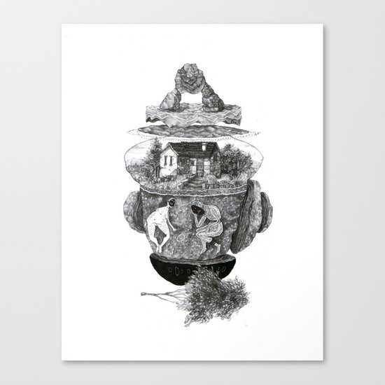 house, and things Canvas Print