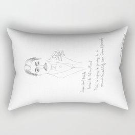 Marcel Proust portrait Rectangular Pillow