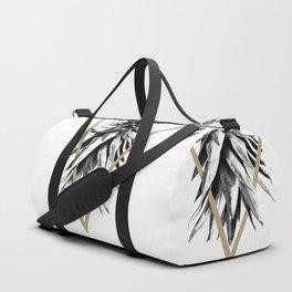 Pineapple Upside Down Geo #1 #tropical #fruit #decor #art #society6 Duffle Bag