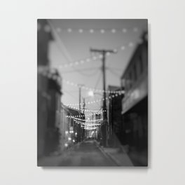 Party Lights in the City Metal Print
