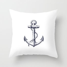 Anchor dS Throw Pillow