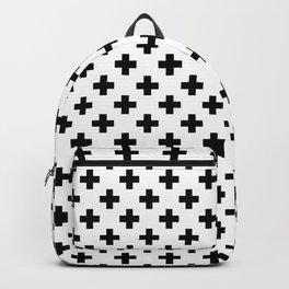 Black Crosses on White Backpack