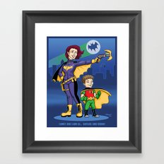 Camey and Liam commission Framed Art Print