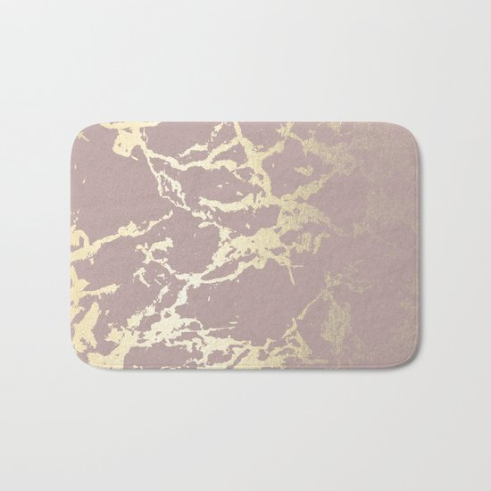 Simply Kintsugi Ceramic Gold on Clay Pink Bath Mat