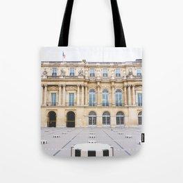 Buren's Columns, Le Palais Royal Courtyard, Paris, France Tote Bag
