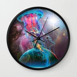 Electric Jellyfish World Monster Wall Clock