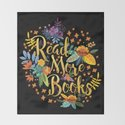 Read More Books - Black Floral Gold by evieseo