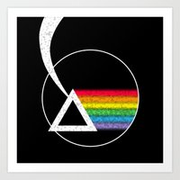 dark side of the moon Art Prints featuring Dark Side of the Moon by Maira Artwork