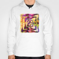 kandinsky Hoodies featuring Number 1 Abstract by Mark Compton by Mark Compton