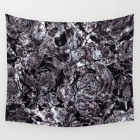 metallic Wall Tapestries featuring metallic flowers by clemm