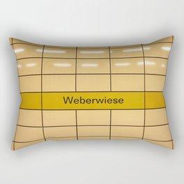 Berlin U-Bahn Memories - Weberwiese Rectangular Pillow