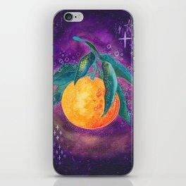 Cosmic orange iPhone Skin