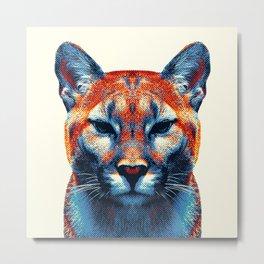 Puma -  Colorful Animals Metal Print