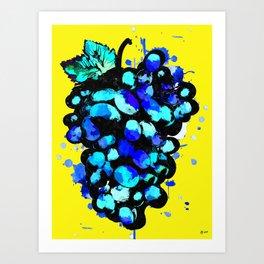 Colored Grape Art Print