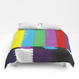 color tv bar#glitch#effect Comforters