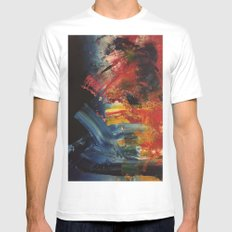 SPACE White MEDIUM Mens Fitted Tee