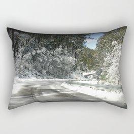 Winding road down Mt.Baw Baw Rectangular Pillow