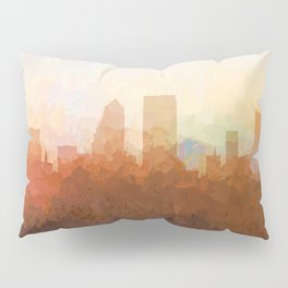 Jacksonville, Florida Skyline - In the Clouds Pillow Sham